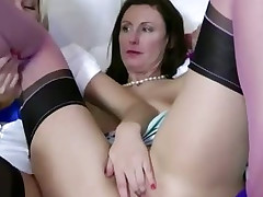 Blonde playgirl gets her pussy eaten out by energized lesbian