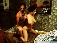 vintage girl get up man with handjob