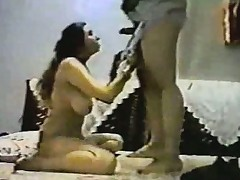 Vintage arab amateur couple make steadfast homemade anal