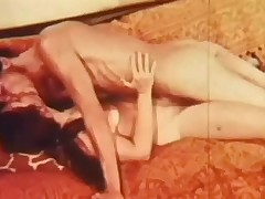 A naked couple is laying overhead a sofa. The guy kisses be transferred to girl all over, principally the brush tits. He then fucks the brush in the brush hirsute pussy, spiralling faster and faster, making the brush moan on touching pleasure.