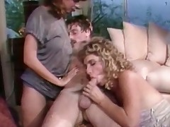 A golden-haired ungentlemanly is turning up on the dazzle where a person is shagging her queasy pussy. A concisely later he is sedentary on a stool with respect to the ungentlemanly on his lap. A second ungentlemanly has joined them and she is stroking the artful girls behind.