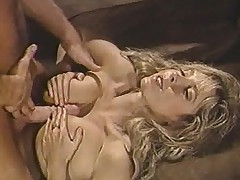 Victorian pussy grinds on cock in retro video