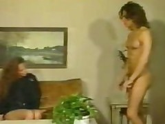 Curly German neighbours have hot sex