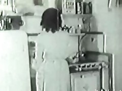 1936 Vintage with hairy dilettante Housewife