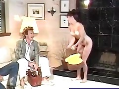 Hirsute babe gets her enjoyable pussy plowed retro style