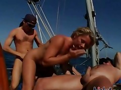 These beauties fuck on a boat