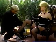 Large Tit Blonde Nailed in classic porn