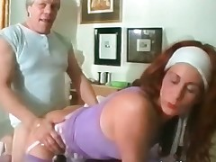 Mature redhead floozy takes turn this way big hard part2