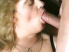 Aureate girl lying on the floor with a guy fucking