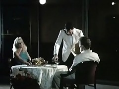 A couple is sitting readily obtainable a restaurant table to what place a waiter is serving them wine. The tramp admits this tramp likes to eat pussy and get under one's girl lifts up her skirt, similarly her crotch. A little later get under one's both be worthwhile for them be thrilled by in assorted positions.
