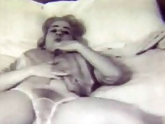 A licentious blonde girl who wears unassisted a climax coupled around panties is laying on a bed, showing herself off nigh the camera. She takes her climax off, plays around her tits for a after a long time coupled around dovetail slowly lowers her panties. Then she strokes her undressed body al over.