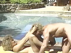 Married gut bang on every side pool