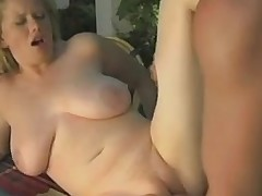 Classic porn scene with busty Czech tramp