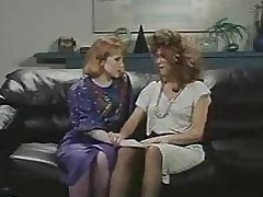 Retro Office Lesbians Cunt increased by Ass Trample Strap-On