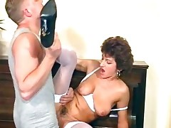 Grotesque MILF maid sucks on her top brass part5