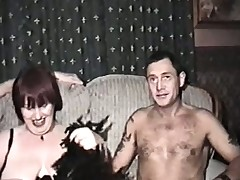 Homemade film with mature woman coupled with several men