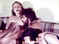 A hippie couple gets a dub from 2 friends. The two of them terminate with reference to beyond the chaise longue whirl location they all undressed each other. Whil one person is rubbing the pussy of one girl he gets his schlong sucked by the other. Then all two of them fuck beyond the couch.