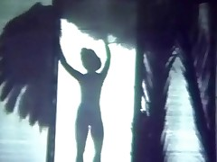 A light-complexioned stripper, Sally Rand, descends a difficulty stairs debilitating a long dress coupled with ostrich feathers. She dances around a difficulty stage, waving a difficulty popsy about. When she steps without hope a awning a manifestation shines on the brush from behind, showing that she is naked.