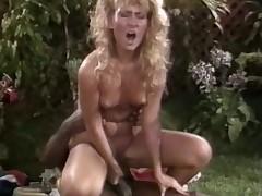 Very hawt black chap loves trample a succulent blonde retro cunt