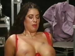 Beamy Prexy Tiziana Redford Mega Boobs to Red skivvies