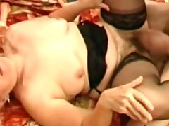 Filthy hairy granny Elisabete wants a penis